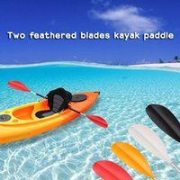 paddle length kayak - 1pc cm Length Polypropylene Kayak Paddle Constructed with Two Feathered Blades and Two Shafts Boat Paddle for Rivers Lakes and Sea