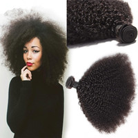 Wholesale malaysian human hair for weaving resale online - 8A Unprocessed Malaysian Kinky Curly Hair Bundles Human Hair Weave Afro Kinky Curly Hair Weft For Woman