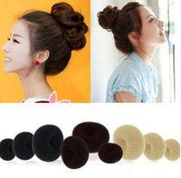 Wholesale Wholesale Synthetic Hair Bun Accessories - set of 3 Crowns Womens Girls Hair Bun Donut Synthetic Scrunchie Hair Bun Cover Bun Cage Bun Wrap Maker Hairpiece Clip in Hair Extension Brid