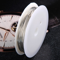 Wholesale Rolls Silver Wire - Free Shipping Wholesale Jewelry DIY 0.6mm 10 Rolls 5m Silver Plated Wire Beading Cord,Fashion Jewelry Finding