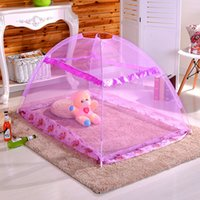 Wholesale Folding Cribs - 70*110Cm Mosquito Net Bed Net Mosquito Curtain Folding Bedding Netting Cover No Bottom Netting For New Born Baby Toddlers Mixed Color