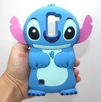 Wholesale Cute Stitch Iphone Case - 3D Cute Cartoon Soft Silicone Rubber Stitch Back Cover Case For LG G5 K5 K7 K8 K10 V10 Q7 Q10 Samsung Galaxy A5 A7 2016 A510 A710 J1 Mini