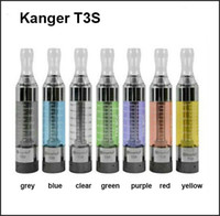 Wholesale Ego T Kanger - Kanger T3S Atomizer upgraded t3 clearomizer t3s tank with 2.2ohm t3s coils ego 510 thread for ego-t evod vision spinner 2 battery