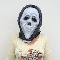 черная белая страшная маска оптовых-Белая маска для губ Макияж для лица Halloween Party Black Black Glauze devil Mask Страшная маска для вечеринок Бесплатная доставка