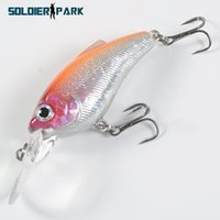 Wholesale Orange Saltwater Fish - Seawater Fish Minnow Lure Rock Crank Bait Laser Long Shot Lure Tackle 9CM Long Tongue Fishing Crank Lure Bream Orange Silver order<$18no tra