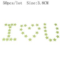 Wholesale graphic stars - 50pcs lot Wall sticker DIY poster Luminous Stickers 5 color stars wall stickers fluorescent wall stickers for kids rooms