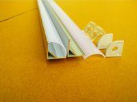 Wholesale Triangle Angle Wholesale - Free Shipping 2m pcs 90pcs Lot 45degree angle profiles aluminum profile for led strip light, triangle shape with clear   milky diffuse cover