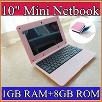Wholesale Android Laptop 1gb - Wholesale laptop 10 inch Dual Core Mini Laptop Android 4.2 VIA 8880 Cortex A9 1.5GHZ HDMI WIFI 1GB RAM 8GB ROM Mini Netbook C-BJ