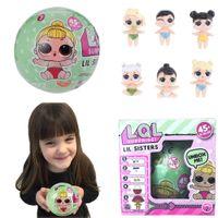 Wholesale Latex Hot Girls - Wholesale- 2017 Randomly Send Dress Change Baby Tear Open Color Change Egg Doll Action Figure Toys LQL SURPRISE DOLL Hot Sale