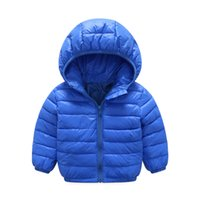 Wholesale Thin Baby Jacket - 2017 new authentic baby girl and boy sports style jacket children winter jacket style size 3-6 year old children's thin coat