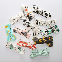 Wholesale Bow Head Clips - Free Shipping Knot Headband bohemian baby hair bows Baby girl Hair band Hair clips headscarf Ornaments Toddler girls Head Wrap Twisted