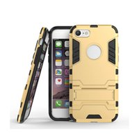 Für iPhone 7 / iPhone 7 Plus Fällen 2 in 1 Hybrid Dual Heavy Duty TPU + PC Iron Man Schild 3D Rüstung Fall Telefon zurück decken
