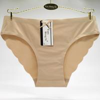Wholesale High Cut Briefs - Yun Meng Ni Underwear High Quality Laser Cut Underwear Sexy Wave Seamless Lady Panties Seamless Womens Sexy Underwear