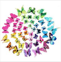 Wholesale Large Butterfly Light - 2016 Best Selling Wall Sticker Black Words Wall Sticker Home Decor 3d Butterfly Wall Decor For Living Room freeshiping