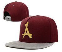 Wholesale Tha Alumni Snap Back - 2016 hot sale Brand New Adjustable Bone tha Alumni Snapback Caps Gold A Hip Hop Sport Hats Baseball Snap back Caps Free Shipping