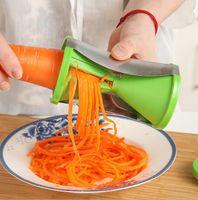 Wholesale Kitchen Julienne - Vegetable Fruit Spiral Shred Process Device Cutter Slicer Peeler Kitchen Tool Slicer Spirelli Spiralizer Julienne Cutter Accessories