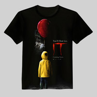 Wholesale Horror Shirts - New IT Pennywise Clown Stephen King 1990 2017 Horror Movie T-Shirt TShirt Tee