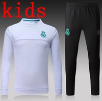 Wholesale High End Packaging - kids high-end sportswear joint training package 2017 Real Madrid Black Purple the best quality Real Madrid training suit