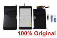pantalla de microsoft al por mayor-1 Unids para Nokia Microsoft Lumia N535 535 Pantalla LCD de Pantalla Táctil ensamblaje del Digitizador Con Marco CT2S1973FPC-A1-E Y CT2C1607FPC-A1-E + Herramientas