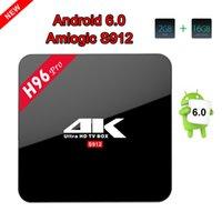 Wholesale Arm Wifi - H96 PRO Amlogic S912 Octa Core ARM Cortex-A53 2G 16G Android 6.0 TV Box BT4.0 2.4G 5.8G WIFI 4K