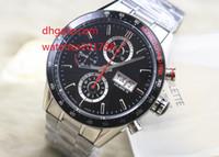 Wholesale Calibre 16 Black Dial - high quality Luxury Brand quartz Watch Calibre 16 CV2A1R Men Black Dial Chronograph Mens Watch Watches The best watch