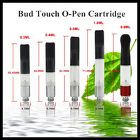 Wholesale Disposable Flat Tips - Bud Hemp CE3 Wax Oil Atomizer with Plastic Pipe Flat Drip Tips Touch O-Pen Vape Pen Cartridge Clearomizer Disposable CBD Fit eGo Battery