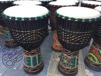 ingrosso mani libere africane-Stile africano di legno della pittura classica del tamburo della mano di percussione del tamburo di Djembe Trasporto libero