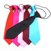 Wholesale Neck Ties 7cm - Halloween children Ties cotton fashion Candy colors tie Party dress up Children Neck Tie 14 colors 28*7cm C2620