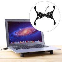 caixa de polvo venda por atacado-Mini USB Octopus Laptop Notebook Ventilador Cooler Cooling Pad Dobrável Coller Fan Com Caixa De Varejo Frete Grátis