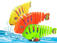 Wholesale Wind Tail - 2016 new Activity Wind-up Toy fish clockwork toy Colorful fish moving tail swimming fish Children's Educational Toy