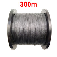Wholesale Floating Braided Fishing Line - 1PC 300m 328 Yards 100% PE Braided Fishing Line Grey 4 Strands Braid Multifilament Super Strong Fishing Lines 15LB-100LB