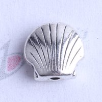 Wholesale Zinc Spacer Beads - Mini shell Spacer bead charm 650pcs lot 8*8.7mm antique silver bronze Zinc Alloy for DIY pendant Jewelry Making Accessories 2433