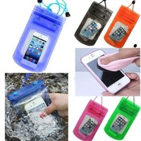 Wholesale Bag For Hot Water - Hot Universal Waterproof Bag Underwater Pouch Dry Case Cover for iPhone Samsung S7 Edge Smart Phones Under 5.5 Inch