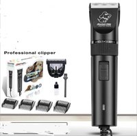 Wholesale Hair Trimmer Professional Electric Clipper - professional plug in electric pet hair clipper ceramic blade dog cat rabbit fur cutting tool precision trimmer 4 size comb scissor