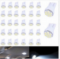 100PCS T10 8smd Blanc Brillant 8SMD LED voiture T10 2825 194 W5W Wedge Tail Side Car Ampoule Lampe automobile voiture-Style vente en gros