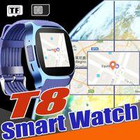v8 uhr kamera großhandel-T8 Smart Watch Clock 2017 Heißer Verkauf Niedriger Preis Bluetooth Smartwatch Suppot SIMTF Karte Mit Kamera Anruf Nachricht für Android Upgrade V8