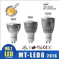 Wholesale 6w Cob Spot Light - Factory OUTLET LED COB Spot Light MR16 GU5.3 GU10 B22 E14 E27 Dimmable 6W 9W 12W AC 110V -240V LED Spotlights Led Light Lamp Spotlight bulbs