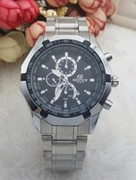 Wholesale Big Bang Mens Watch - 2017 Quartz Big Bang Sports Mens Watches Big Dial Display Top Brand Luxury watch Cassio Watch Steel Band Fashion Wristwatches For Men CSO