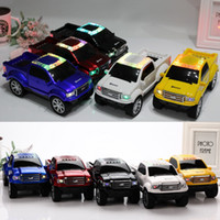 Wholesale car shape mini mp3 player - Truck Car Design Mini Wireless Bluetooth Speaker with LED Flash Light USB TF SD Card Stereo FM Amlifier Car Shape Speakers MP3 Music Player