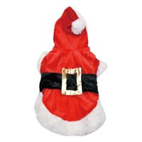 Wholesale Christmas Hoodie For Dog - New Cute Pet Christmas Hoodie Coat Jacket Sweater Apparel Santa Costume For Outwear Coat Pet Puppy Supply Xmas