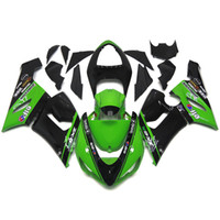 Injection Mold sportbike covers - Fairings For Kawasaki ZX6R ZX R Year Sportbike ABS Motorcycle Fairing Kit Bodywork Gloss Green Black Covers