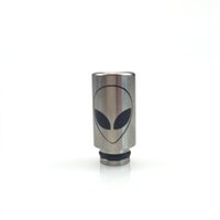 Wholesale Stainless Steel Cartomizer Rda - Wholesale- Stainless Steel ET Mouthpiece wide bore 510 Drip Tip Fit Kanger RBA RDA Cartomizer DCT EGO Cigarette Drip Tips