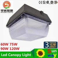 Wholesale Outdoor Canopies Wholesale - 40W 60W 75W 90W 120W IP55 LED Floodlights Outdoor Lighting Canopy Light For Gas Station LED Flood Light AC 110-277V Warranty 3 Years