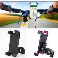 bisiklet için cep telefonu tutacağı toptan satış-Evrensel Bisiklet Bisiklet Cep Telefonu Tutucu Gidon Klip iPhone Samsung Cep Telefonu GPS için Montaj Braketi Standı