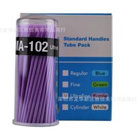 Wholesale Eyelash Extensions Green - Hot selling 100pcs lot Durable Micro Disposable Eyelash Extension Individual Applicators Mascara Brush For Women Wholesale