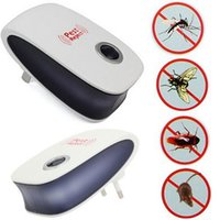 Wholesale Electronic Flying Cockroach - Domain1 Electronic Ultrasonic Pest Repellent Pest Control Equipment for Repels Mosquito Bed Bugs Mice Flies Cockroaches Ants Spiders