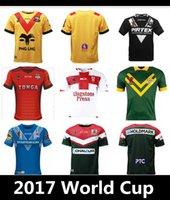 Wholesale Australia Army - 2017 World Cup cedars RFL NRL Jersey New Zealand rugby shirt kiwi tonga rugby Jerseys SAMOA kiwis Australia Papua New Guinea FI-TA shirts