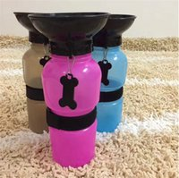 Wholesale Aqua Cups - Aqua Dog Portable Anti-Spill Water Bottle On the Go 18oz Fit in Car Cup Holder Free Easy Carry Loop Dog Water Bowl For Travel Park Beach DHL