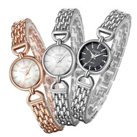 Wholesale Yaqin Quartz - Wholesale-Brand YAQIN Vintage Fashion Women Delicate Alloy Bracelet Watches Original Quartz Girl Students Dress Wrist watch Relojes NW7120