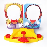 Wholesale Gifts For Fun - Funny Double Person Toys Cake Cream Pie In The Face Anti Stress Toy for kids Party Fun Game Prank Jokes for kids Gift